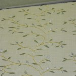 Trend Fabrics Timeless Embroidery and RM Coco faux raw silk
