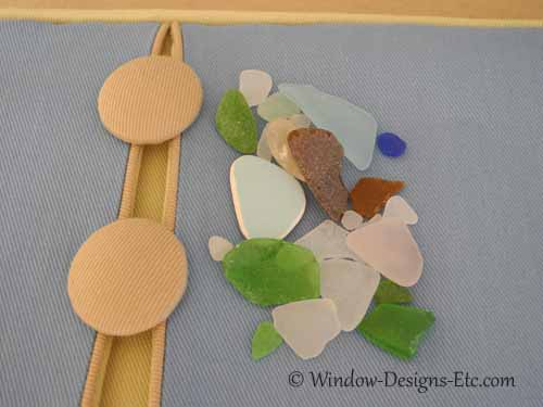 Covered buttons and sea glass