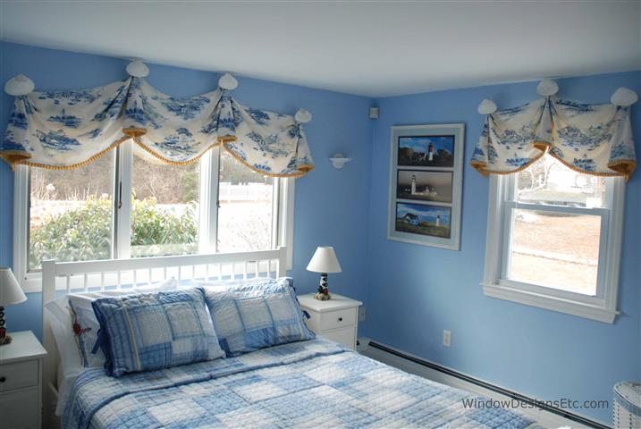 Blue And White Toile Bedroom: Cape Cod Blue
