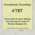 #TBT A look back at some designs from the past 32 years of Window Designs Etc. See more at http://www.WindowDesignsEtc.com