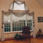 #TBT Throwback Thursday Draped swags with cording and tassels on an arched top window Window Designs Etc by Marie Mouradian Sterling Massachusetts