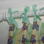 Hand painted polka dot curtain rod. See more at www.WindowDesignsEtc.com