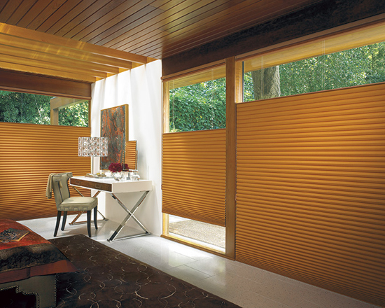 Duette® Architella honeycomb Shades by Hunter Douglas with saving rebates available from Window Designs Etc. By Marie Mouradian Duette honeycomb