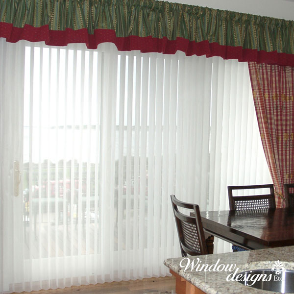 Luminette Privacy sheers are ideal blinds for sliding doors and wide windows. By Hunter douglas