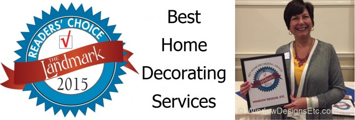 Window Designs Etc. receives Best Home Decorating Service Award by The Landmark Readers' Choice 2015