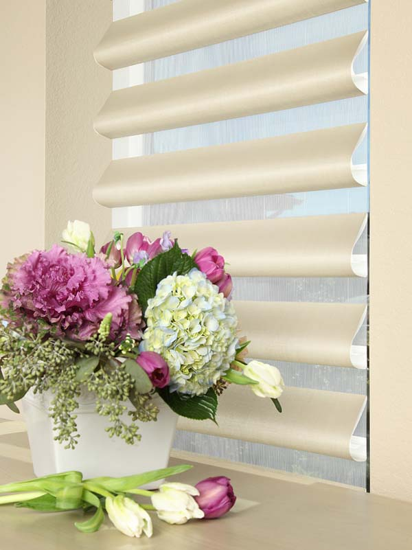 Hunter Douglas Pirouette® Window Shadings. Perfect for the longer days of spring and summer. Available to the Worcester, MA area through Window Designs Etc. by Marie Mouradian