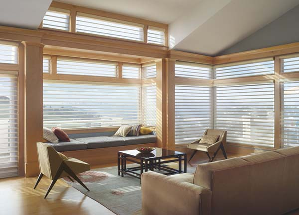 Hunter Douglas Silhouette Window Shadings. After Hunter Douglas Silhouette@ Window Shadings. Glorious radiance! Available to the Worcester, MA area through Window Designs Etc. by Marie Mouradian