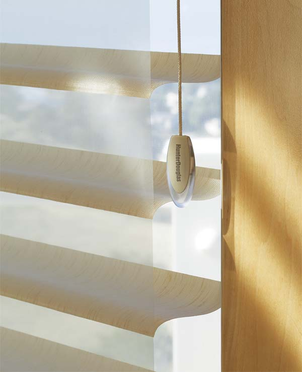 Hunter Douglas Silhouette Window Shadings. The signature S-Vane ransforms sunlight into illumination. Available to the Worcester, MA area through Window designs Etc. by Marie Mouradian