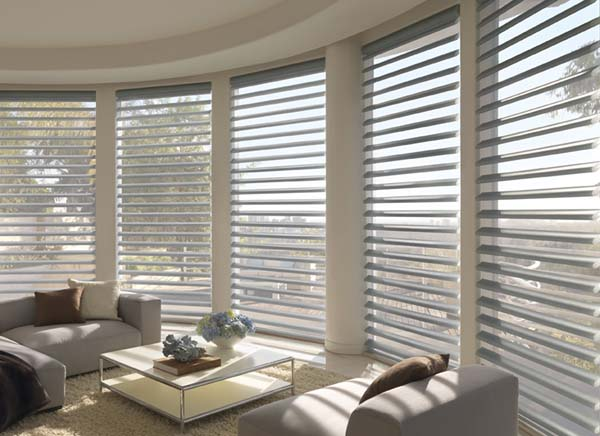 Hunter Douglas Pirouette® Window Shadings. Available to the Worcester, MA area through Window Designs Etc. by Marie Mouradian