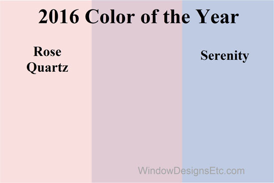 Rose Quartz and Serenity combined. Pantone 2016 Color of the year. - more on the blog WindowDesignsEtc.com.