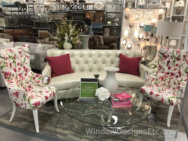 Homesense Furniture Vignette Designer Preview Framingham Massachusetts See blog post at windowdesignsetc.com