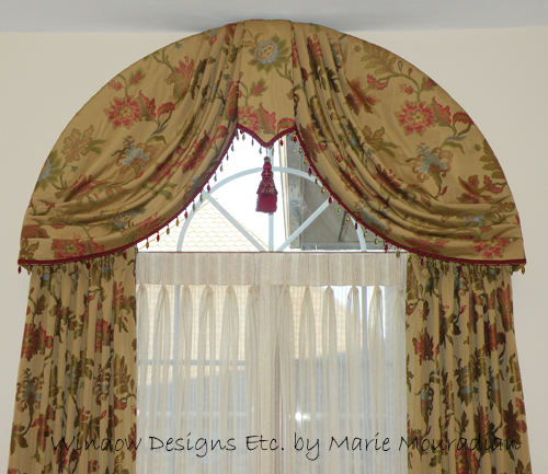 awesome arched home diy chris put interior to windows curtains where for an arch a has rod curtain top ideas drapes formidable decorating on that loves julia window