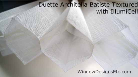 Hunter Douglas Duette Architella Honeycomb Shade In Batiste With Illumicell