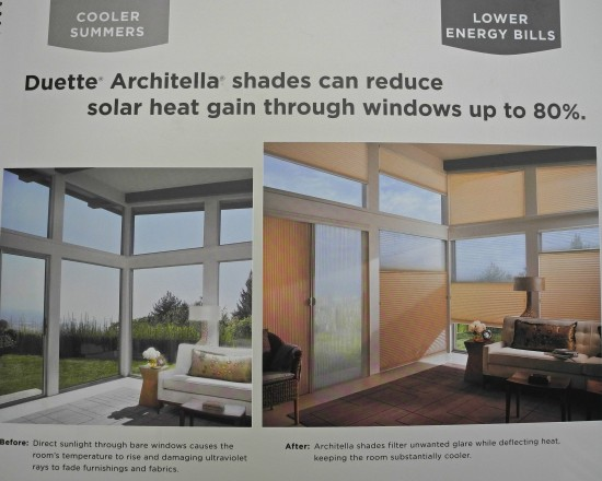 Hunter Douglas Duette Architella Honeycomb Shades Can Reduce Solar Heat Gain Through Windows Up To