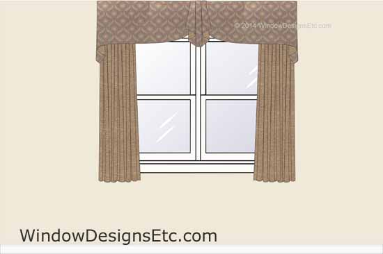 window treatment styles contemporary home office valance styles design rendering of custom window treatment with draperies and office valance styles which would you choose