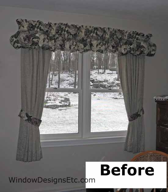 Ordinaire Home Office Valance Styles. Princeton, MA Home Office BEFORE Custom Window  Treatments By Marie