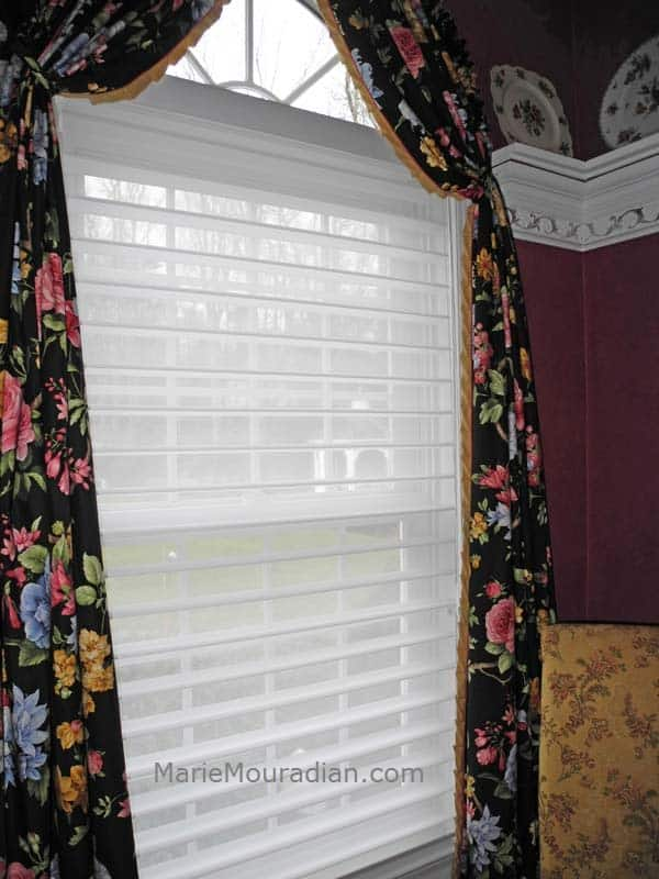 Hunter Douglas Silhouette Window Shadings Dining Room With Black Fl Arched Top D