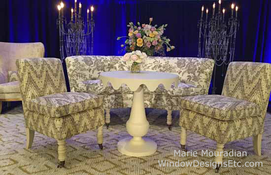 Stage furniture by Currey and Company Design Bloggers Conference 2015......more on the blog WindowDesignsEtc.com