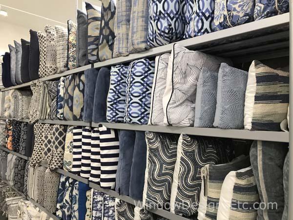 14 homesense pillows blue