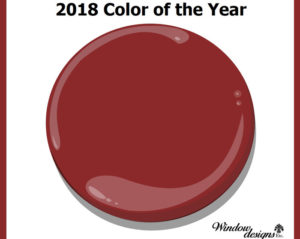 Benjamin Moore Caliente Af290 Color of the year 2018 See more detaiils on www.windowdesignsetc.com