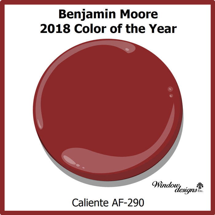 Benjamin moore caliente af290 2018 color of the year Paint color of the year